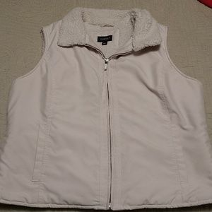 Cream Sherpa Lined Vest